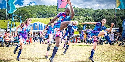 Symudiadau rygbi a dawns // Rugby movements and dance @TheatrClwyd