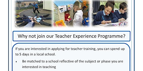Teacher Training in Cambridgeshire - Experience Days (East Cambridgeshire & Fenland) tickets
