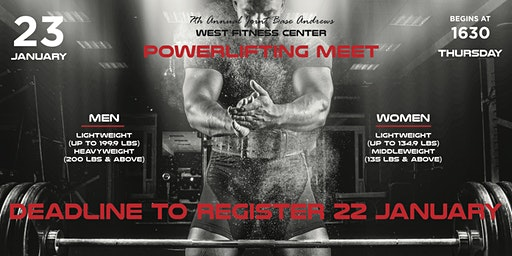 7th Annual Joint Base Andrews Powerlifting Meet