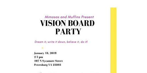Mimosas and Muffins Present Vision Board Party Bringing 2020 right