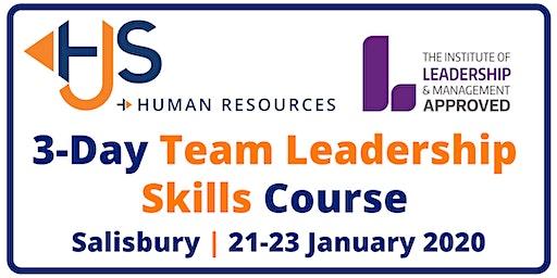 Team Leadership Skills Course: 3 Days 21-23 January 2020