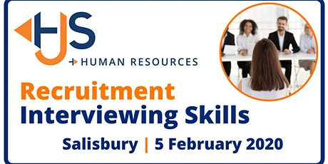 Recruitment Interviewing Skills  - Training by HJS Human Resources tickets
