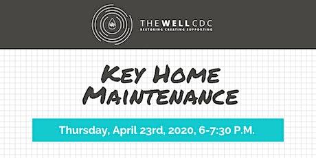 Home Maintenance Class: Key Home Maintenance tickets