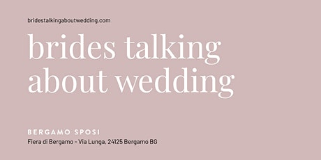 Brides talking about wedding biglietti