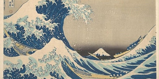 Big Canvas Painting 'The Great Wave off Kanagawa' by Katsushika Hokusai