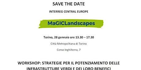 Workshop MaGICLandscapes - Strategie per il potenziamento delle Infrastrutture Verdi e dei loro benefici biglietti