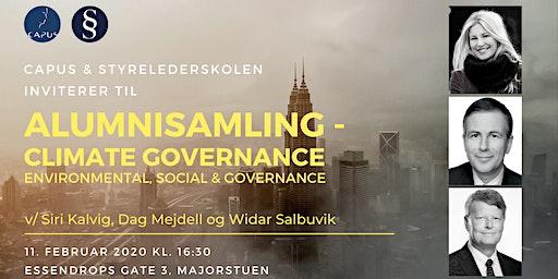 Alumnisamling - Climate Governance