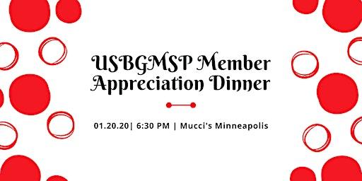 USBGMSP Member Appreciation Dinner  2019-20