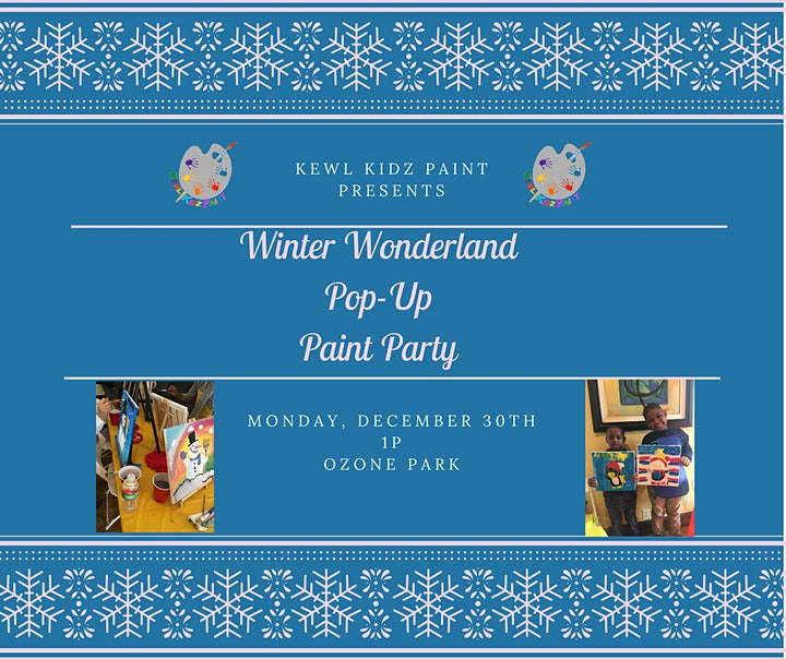 Winter Wonderland Pop-Up Paint Party image