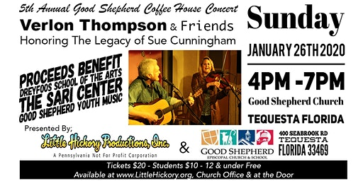 Verlon Thompson & Friends 5th Annual Concert honoring Sue Cunningham