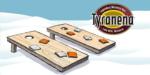 Tyranena Cornhole Tournament at the Knickerbocker Ice Festival