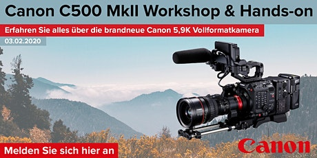 Canon C500 MarkII Workshop Tickets