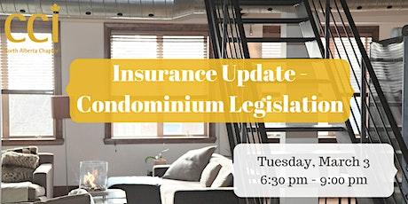 CCI Evening Seminar - Insurance Update - Condominium Legislation tickets
