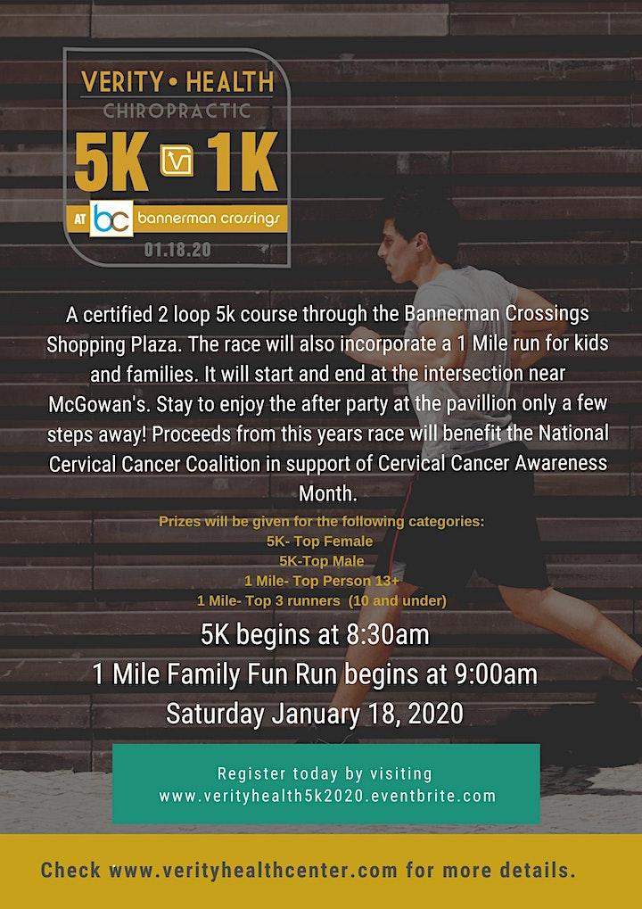 Verity Health 5k and 1 mile Fun Run @ Bannerman Crossings