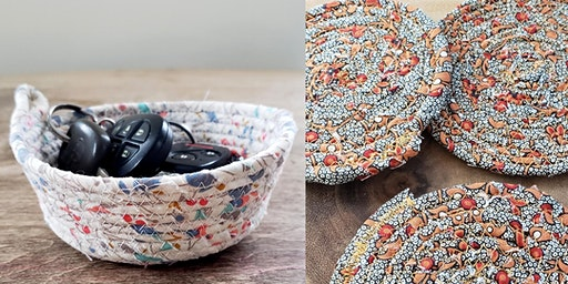 Fabric coil bowls and coasters!