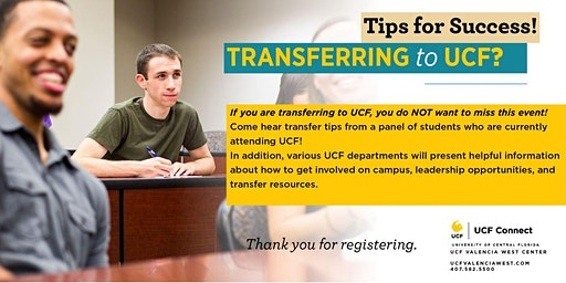 Skillshop:  Transfering to UCF? Come Hear Tips for Success!