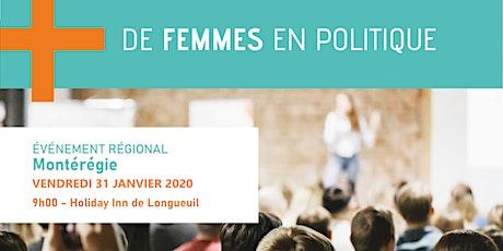 Plus de femmes en politique tickets