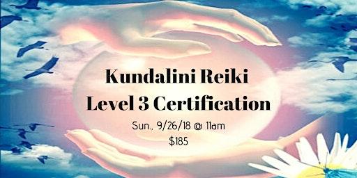 Kundalini Reiki Level 3 Certification