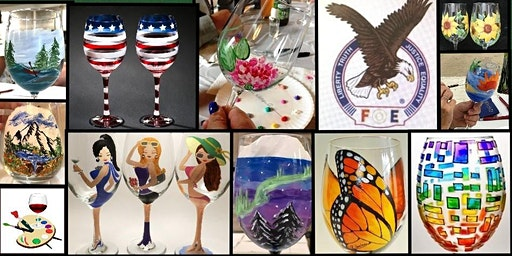 Mill City Eagles Wine Glass Painting Fundraiser!