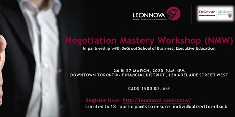 Negotiation Mastery Workshop tickets