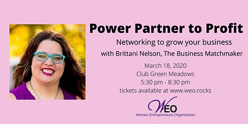 Women Entrepreneurs Org March 2020 - Power Partner to Profit with Brittani Nelson