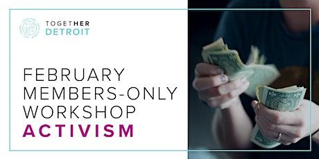 Detroit Together Digital Members Only February Workshop: Financial Activism tickets