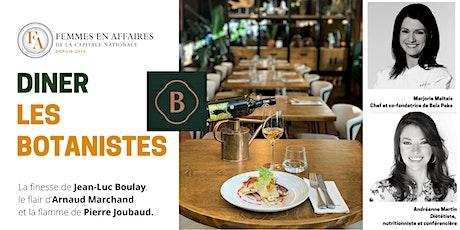 Diner privilège au nouveau restaurant Les Botanistes billets