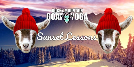 Goat Yoga Sunset Lessons - January 26th (RMGY Studio) tickets