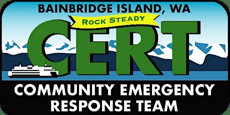 Bainbridge Island CERT Basic Training tickets