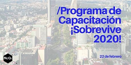PROGRAMA DE CAPACITACIÓN ¡SOBREVIVE 2020! entradas