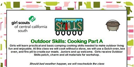 Outdoor Skills: Cooking Part A - Fresno tickets