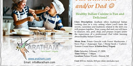 Parent and Child Cooking Class - Healthy Italian Cooking ! tickets
