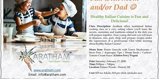 Parent and Child Cooking Class - Healthy Italian Cooking !