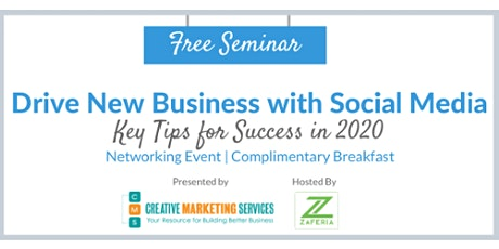 Drive New Business with Social Media Key Tips for Success in 2020 tickets