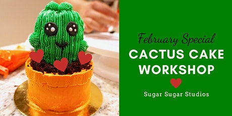 Cake Decorating: Cactus Cake Workshop (Bonus Edition: Heart) tickets