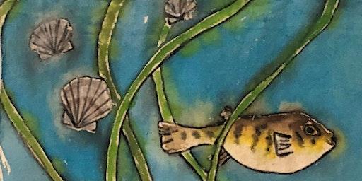 ArtSea Nights: Canvas & Driftwood Wall Hanging ~ Habitat Restoration