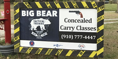 Gift certificate for a Big Bear Ranch Concealed Carry Class ($100) SALE $90 till post-quarantine.  tickets