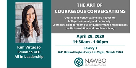 NAWBO Southern Nevada Business Lunch Series - The Art of Courageous Conversations tickets