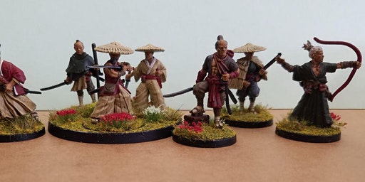 Warlords of Erehwon Tabletop Game/ Samurai Miniatu