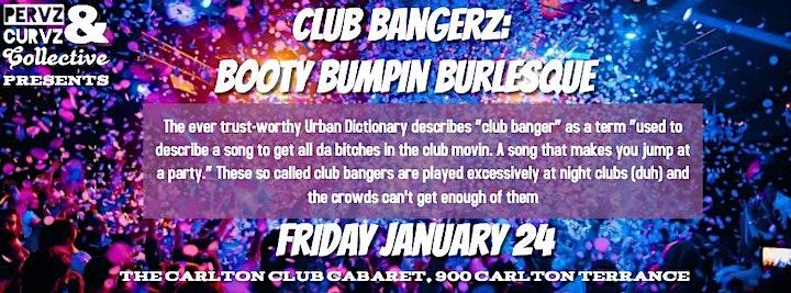 Pervz&Curvz Collective presents Club Bangerz: Booty Bumpin' Burlesque image