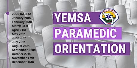 YEMSA: Paramedic Orientation for Accreditation tickets