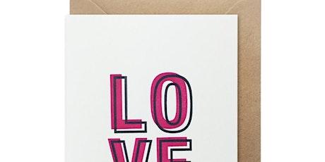 Letterpress Valentines tickets