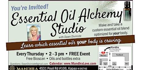 Essential Oil Alchemy Studio: Make & take a custom essential oil @ Mandira tickets