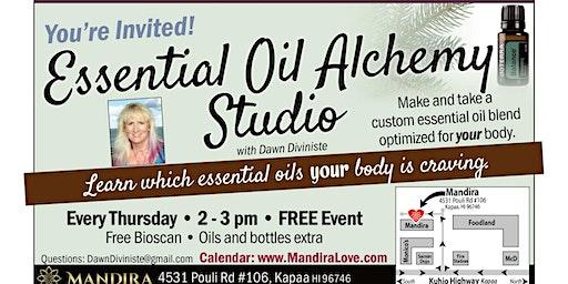 Essential Oil Alchemy Studio: Make & take a custom essential oil @ Mandira