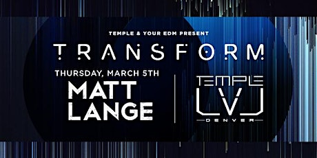 Matt Lange tickets