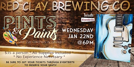 Red Clay Brewing Pints & Paints Blues Guitar