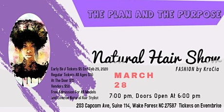 Natural Hair Fashion Show billets