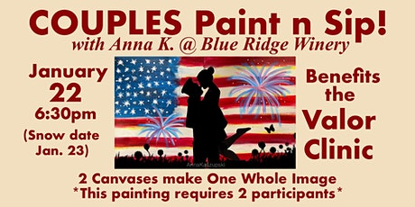 Couples Paint n Sip- for the Valor Clinic tickets