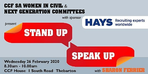 CCF SA Women in Civil & Next Generation Workshop - Stand Up, Speak Up