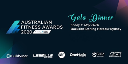 Australian Fitness Awards 2020  Gala Dinner